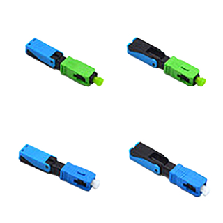 Green Fiber Optic Fast Connector 52mm Fiber Optic SC Connector For 2 X 3mm Drop Cables