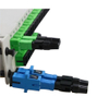 Quick Assembly Connector For Indoor Cable, Blue Optical Fiber Connectors SC / UPC