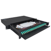 Metal Frame 1U 24 Port Patch Panel, Multimode 48 Core Optical Patch Panel