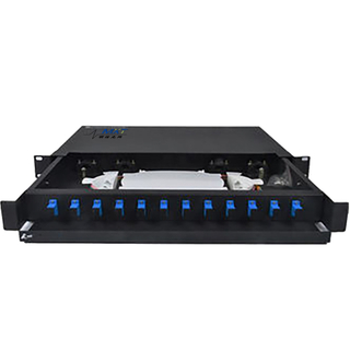 1U Fiber Optic Patch Panel Rack Mount 12 Core Blank ODF With SC Connector